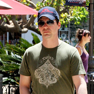 Sean Hayes in Sean Hayes seen enjoying the sun whilst out shopping in Hollywood
