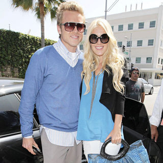 Heidi Montag and Spencer Pratt Leaving Eating Lunch at Il Pastaio Restaurant in Beverly Hills