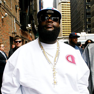 Rick Ross in Outside the Ed Sullivan Theatre for the 'Late Show With David Letterman'