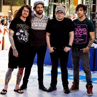 Fall Out Boy in Fall Out Boy performing on the 'Today Show'