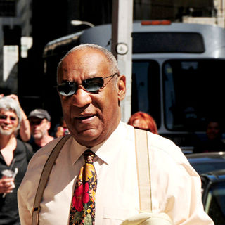 Bill Cosby in Bill Cosby outside the Ed Sullivan Theater for the 'Late Show With David Letterman'