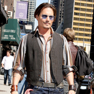 Johnny Depp Outside The Ed Sullivan Theater for The 'Late Show With David Letterman'