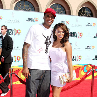 La La Vazquez, Carmelo Anthony in 2009 BET Awards - Arrivals