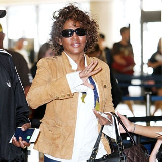 Whitney Houston in Whitney Houston arriving at LAX airport to catch a Delta flight