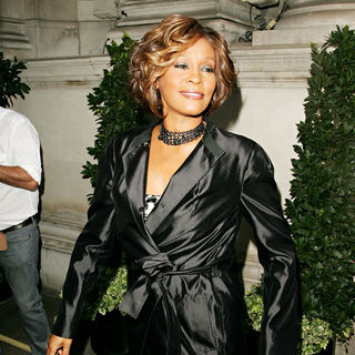 Whitney Houston in Whitney Houston arrives at a London hotel