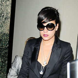 Lily Allen Leaving Claridges Hotel After Attending The Launch of Her First Jewellery Range - wenn5328469