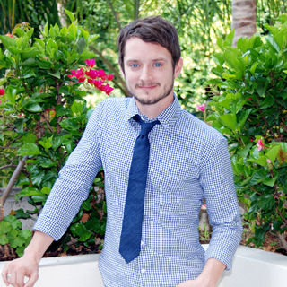 Elijah Wood in A press conference for the the movie '9'