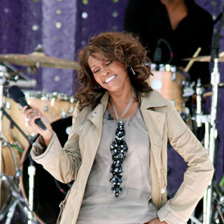 Whitney Houston in Whitney Houston performing live on 'Good Morning America's Summer Concert Series'