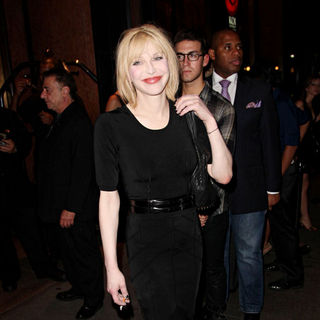 Courtney Love in Celebrities at Bryant Park Mercedes-Benz IMG New York Fashion Week Spring/Summer 2010