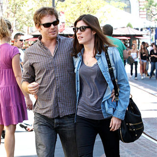 Michael C. Hall, Jennifer Carpenter in Michael C. Hall and Jennifer Carpenter spend the afternoon shopping