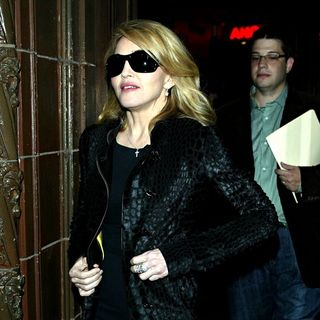 Madonna Leaving a Pizza Restaurant Next to The Ed Sullivan Theatre