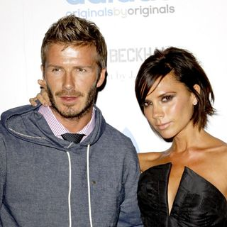 David Beckham, Victoria Adams in David Beckham and Designer James Bond Celebrate The Launch of Their Adidas Originals