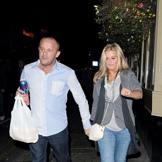 Mark Croft, Kerry Katona in Kerry Katona and Mark Croft Carrying Take Away Food from A Kebab Shop