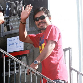 Manny Pacquiao Goes to The Wild Card Boxing Club in Hollywood