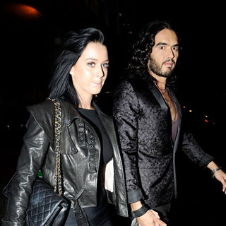 Katy Perry - Katy Perry and Russell Brand leaving The Late Late Show holding hands
