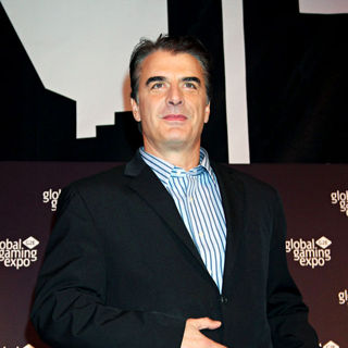 Chris Noth in Global Gaming Expo G2E Ribbon official ribbon cutting