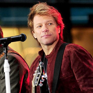 Jon Bon Jovi in Bon Jovi performing live on the 'Today Show's Concert Series'