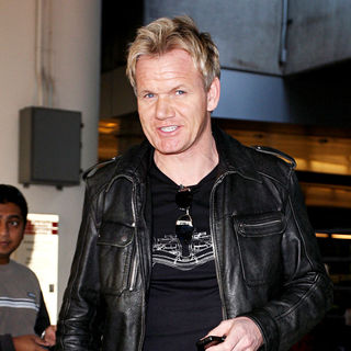 Gordon Ramsay in Gordon Ramsay arriving at LAX Airport