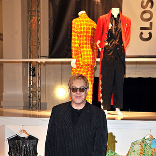 Elton John - The Launch of 'Out the Closet' Pop Up Shop in Covent Garden Selling Clothes and Accessories
