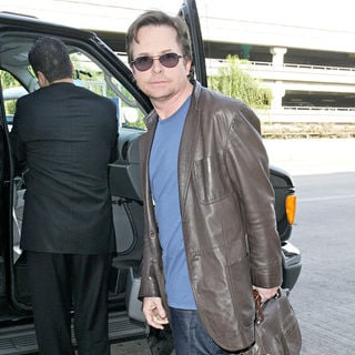 Michael J. Fox in Michael J Fox Arrives at LAX Airport with His Family and Get in Their Waiting Van