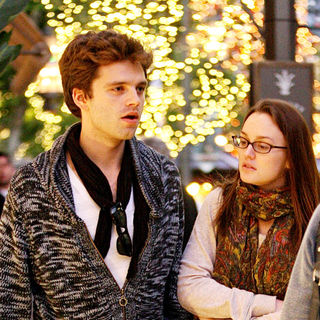 Leighton Meester, Sebastian Stan in Leighton Meester shopping with her boyfriend Sebastian Stan and a friend