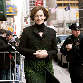 Sigourney Weaver in Sigourney Weaver outside the Ed Sullivan Theater for the 'Late Show With David Letterman'