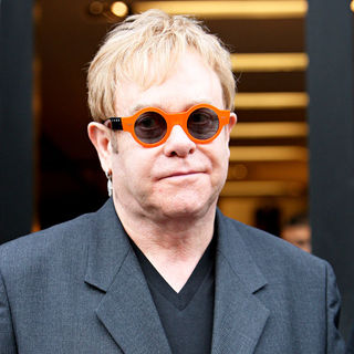 Elton John in Shopping at Dolce & Gabbana in Beverly Hills - wenn5416026
