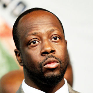 Wyclef Jean in Wyclef Jean speaks at a press conference how his humanitarian and relief organization