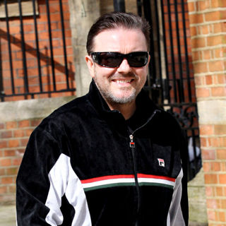 Ricky Gervais in Ricky Gervais Dresses Comfortably in A Tracksuit while Shopping in Hampstead