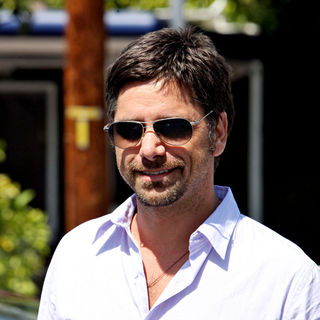 John Stamos in John Stamos seen leaving the Fred Segal boutique after having lunch with friends