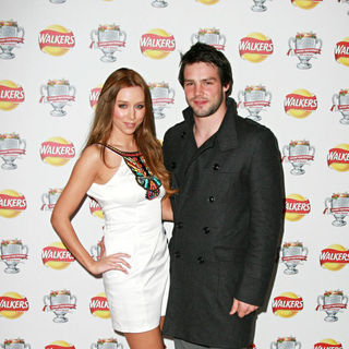 Una Healy, Ben Foden in The Walkers Campaign Launch - Arrivals