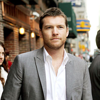 Sam Worthington in Sam Worthington Outside The Ed Sullivan Theater for The 'Late Show With David Letterman'
