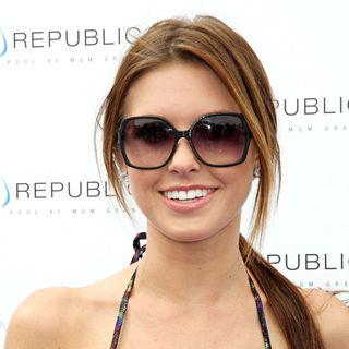 Audrina Patridge brings her chic style to hosts a party