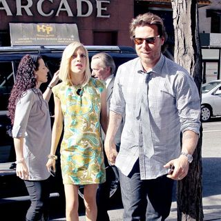Tori Spelling and Dean McDermott arrive at NBC studios to appear on 'Today'