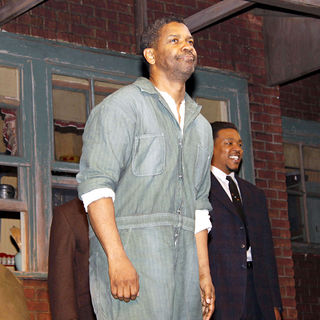 Denzel Washington in On Stage During The Opening Night Curtain Call for 'August Wilson's Fences' on Broadway