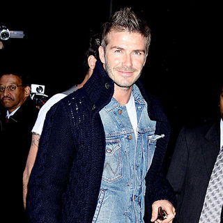David Beckham in David Beckham Arriving at ABC's Times Square Studios for His Interview on 'Good Morning America'