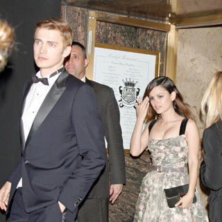 Hayden Christensen, Rachel Bilson in Hayden Christensen and Rachel Bilson Leaving The Carlyle Restaurant