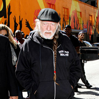 Willie Nelson in Willie Nelson outside the Ed Sullivan Theater for the 'Late Show With David Letterman'