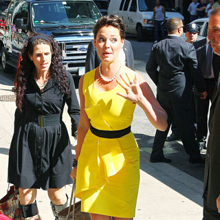 Katherine Heigl in Katherine Heigl arriving at the Ed Sullivan Theatre for the 'Late Show With David Letterman'