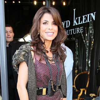 Paula Abdul in Paula Abdul arrives at Lloyd Klein Couture for a dress fitting