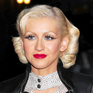 Christina Aguilera in Celebrities at The Ed Sullivan Theater for The 'Late Show With David Letterman'