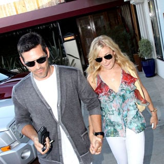 Eddie Cibrian and LeAnn Rimes Depart Nobu in Malibu Wearing Matching White Jeans