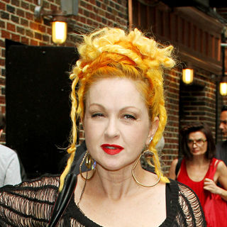Cyndi Lauper in Celebrities Outside Ed Sullivan Theatre for The 'Late Show With David Letterman'