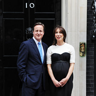 David Cameron, Samantha Cameron in President Nicolas Sarkozy Arrives at 10 Downing Street for A Lunch with Wife Carla Bruni-Sarkozy