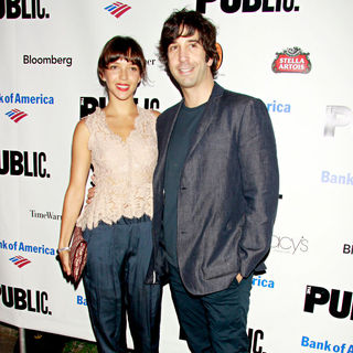 Zoe Buckman, David Schwimmer in The Public Theater's Annual Gala, featuring A Performance of 'The Merchant of Venice' - Arrivals