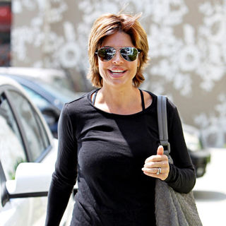 Lisa Rinna in Lisa Rinna Departs A Pilates Studio on Melrose Avenue