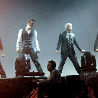 Backstreet Boys in Backstreet Boys Performs on Stage During US Tour