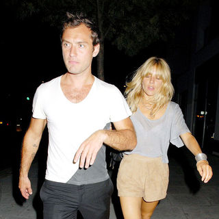 Jude Law, Sienna Miller in Sienna Miller and Jude Law Leaving A Kebab Shop in Camden