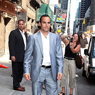 Landon Donovan in Landon Donovan Outside The Ed Sullivan Theatre for The 'Late Show With David Letterman'