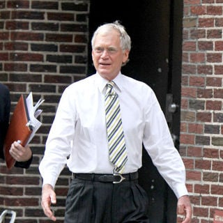 David Letterman in David Letterman Outside The Ed Sullivan Theatre for the 'Late Show With DavidLetterman'